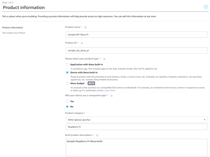 Amazon Developer Account Registration Process Screen