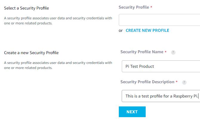Amazon Developer Account Security Profile Registration
