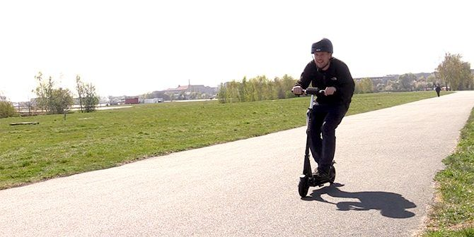 The Kugoo S1 in motion
