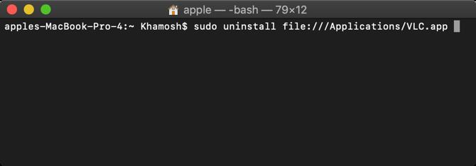 Uninstall App Using Terminal