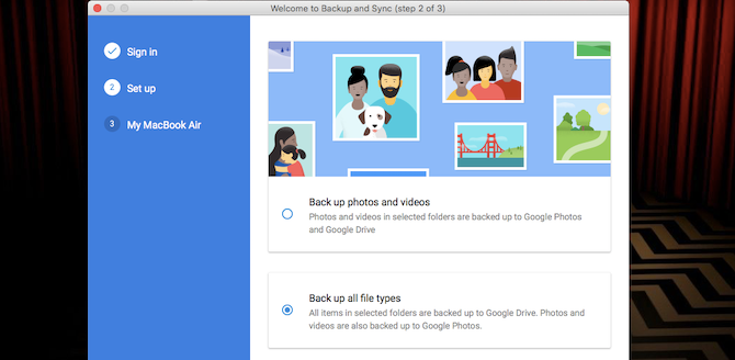 back up all file types google drive