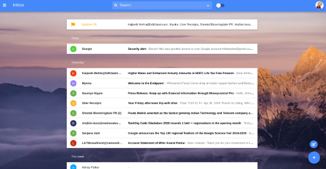 Darwin Mail brings back Inbox by Google interface for Gmail