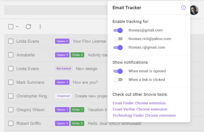 Snov.io unlimited email tracker is a hassle-free way to track who reads your emails
