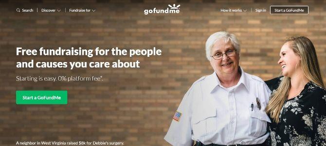 GoFundMe Crowdfunding Website
