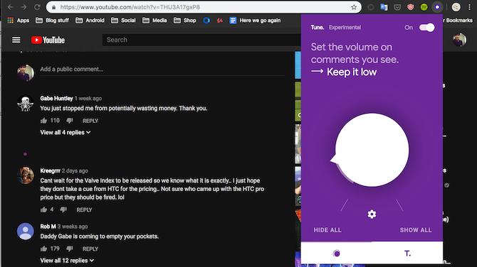 Google Tune Chrome extension