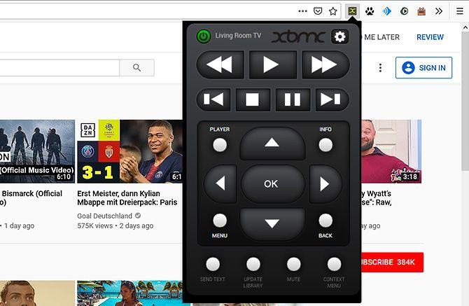 Kodi extensions Firefox - Kassi Control