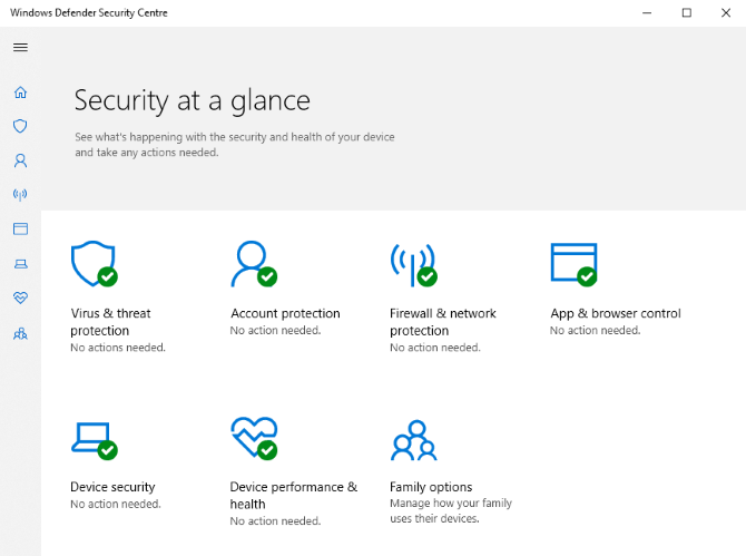 Windows Defender can be accessed from Windows Settings