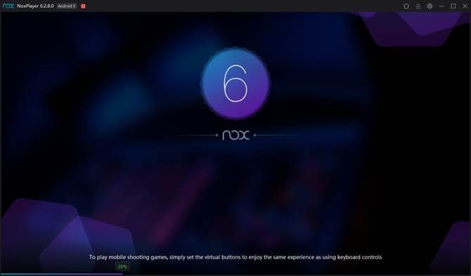 Nox first-time loading screen