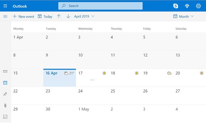 outlook calendar web app