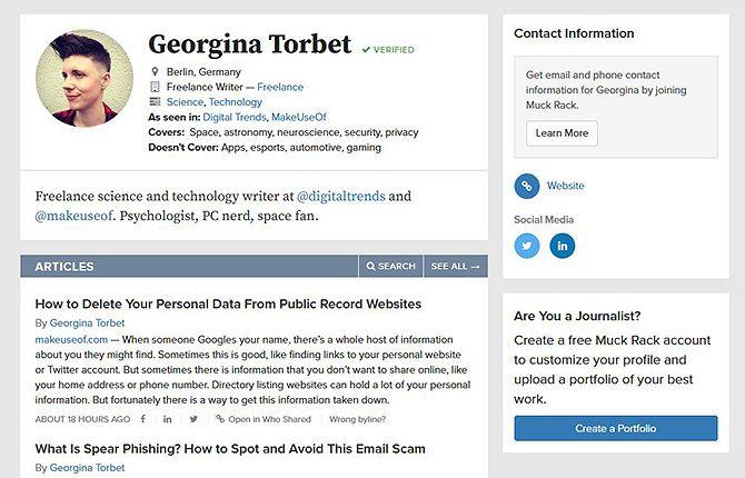Portfolio Sites--- MuckRack