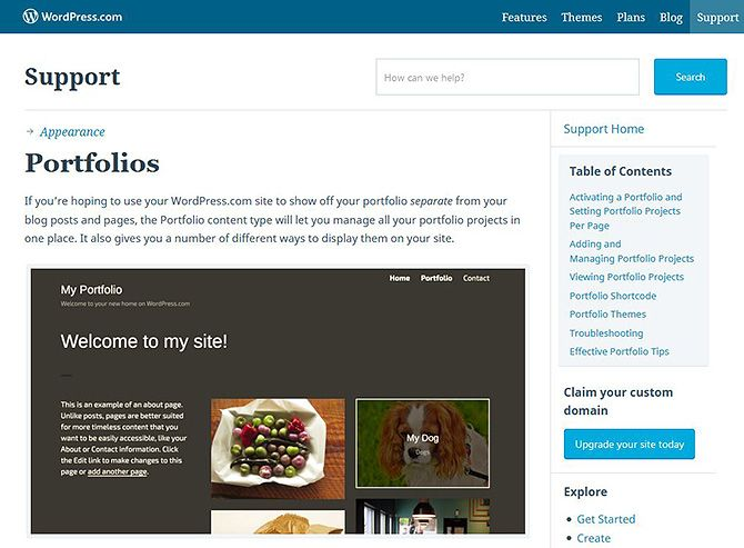 Portfolio Sites---WordPress
