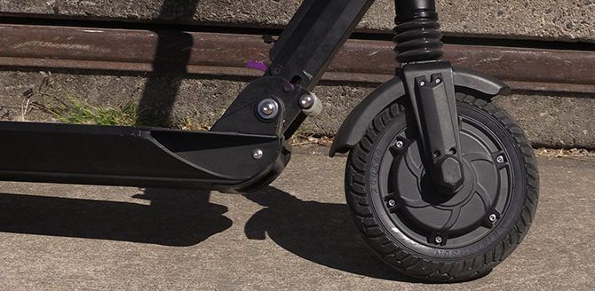 The front wheel motor also operates as a regenerative magnet brake
