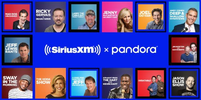 You Can Now Listen to SiriusXM Shows on Pandora