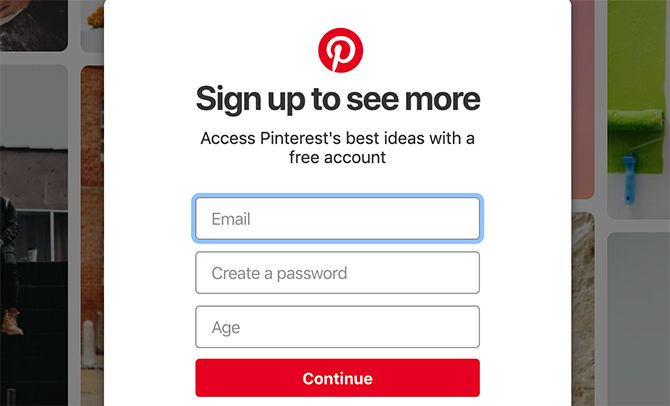 What Is Pinterest Main Screen