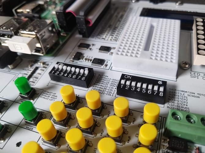 Switch banks for extending GPIO pins