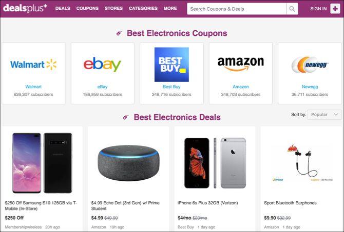 d3f2ab2d7ad1c6 3. DealsPlus. DealsPlus Website. On DealsPlus, users vote for the best deals  ...