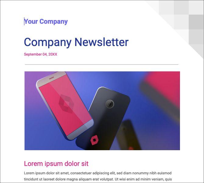 Google Docs Newsletter Template