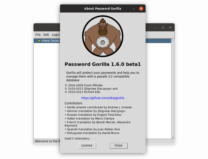 Password Gorilla password manager on Ubuntu Linux