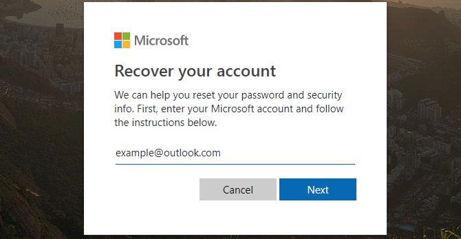 Microsoft Recover Account