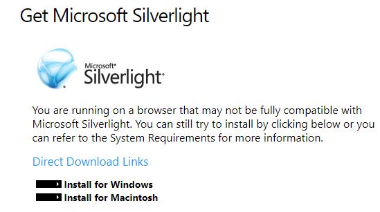 Silverlight Deprecated