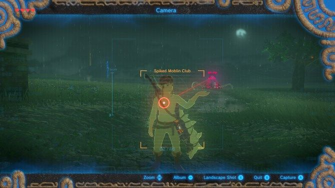 A screenshot of Breath of the Wild on Switch
