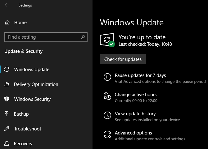 Windows 10 May 2019 Windows Update