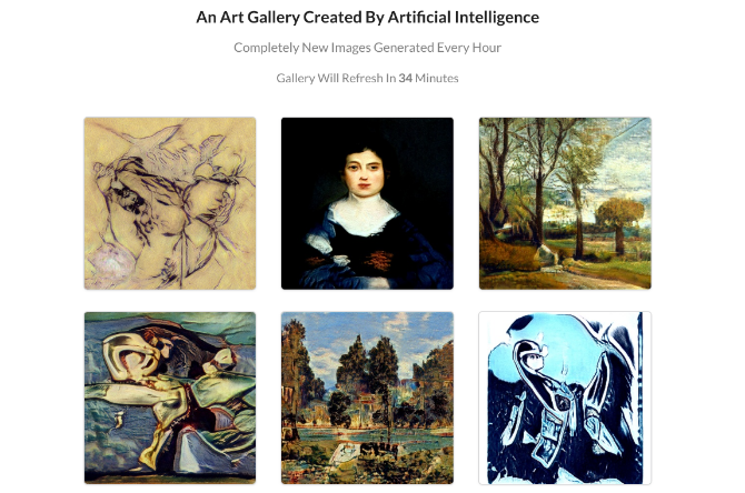9 GANs is AI that creates nine new paintings every hour