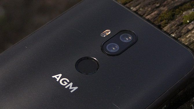 AGM X3 dual rear camera and fingerprint sensor