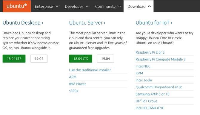 Ubuntu Server download on the Ubuntu website