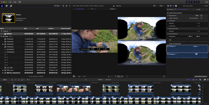 Editing for VR in final cut pro x