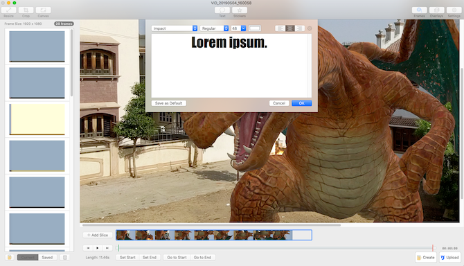 Convert videos into GIF with GIF Brewery on Mac