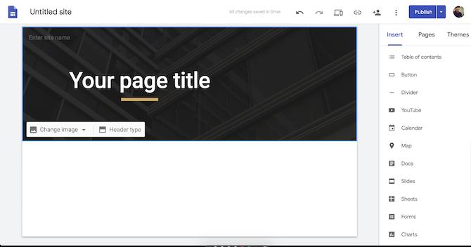 Google Sites demo