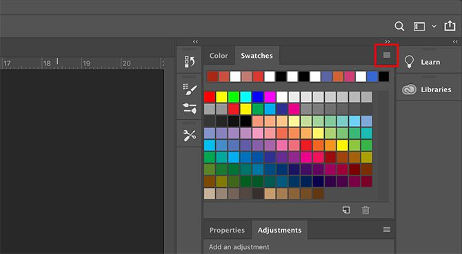 How to Create a Custom Color Palette in Photoshop Swatches Dropdown Menu
