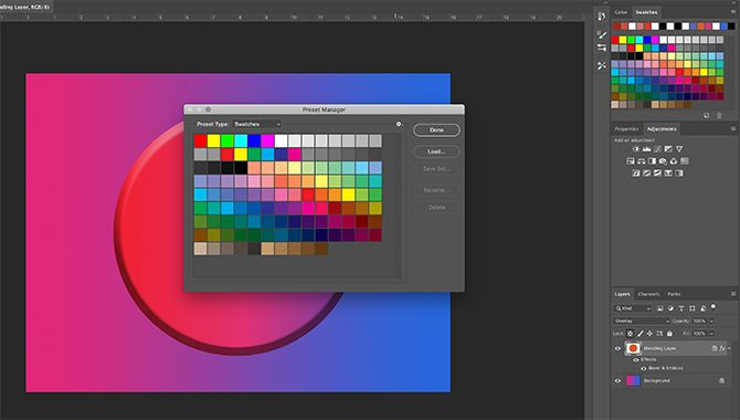 How to Create a Color Palette in Photoshop Preset Manager