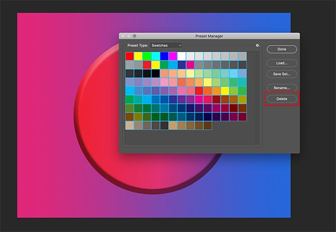 How to Create a Color Palette in Photoshop Delete Old Color Swatches