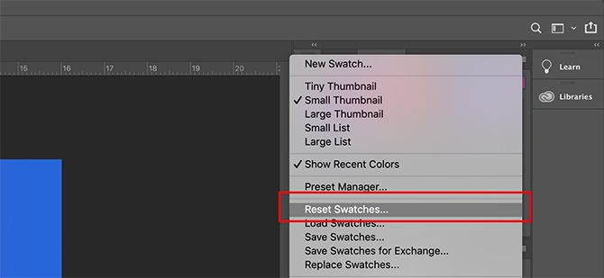How to Create a Custom Color Palette in Photoshop Reset Swatches