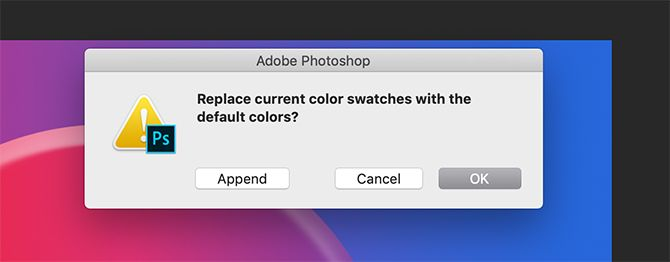 How to Create a Custom Color Palette in Photoshop Do Not Append