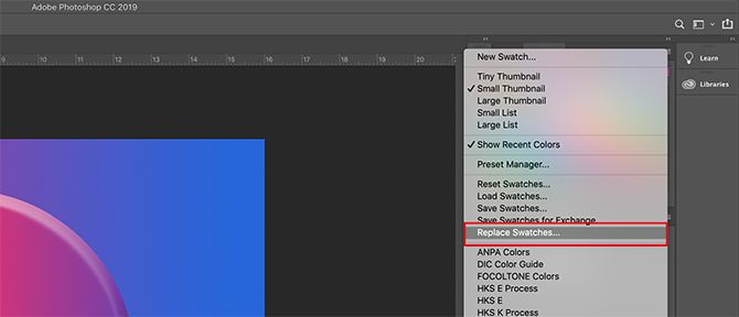 How to Create a Custom Color Palette in Photoshop Replace Swatches