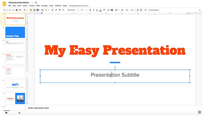 How to Create a Presentation Google Slides Getting Started