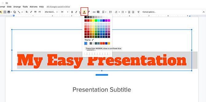 How to Create a Presentation Google Slides Change Font Color