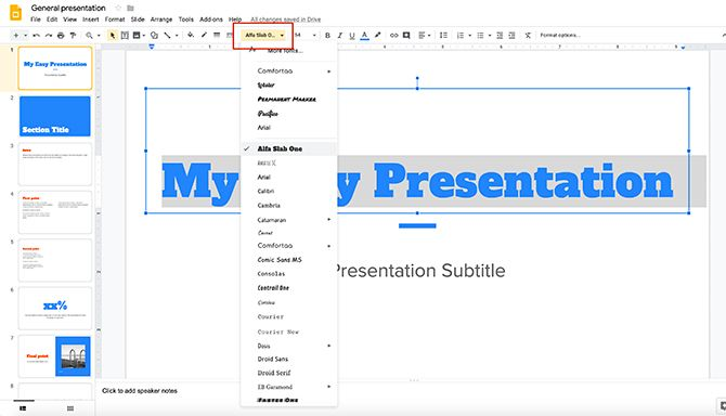 How to Create a Presentation Google Slides Change Font Style