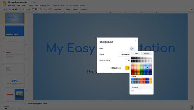 How to Create a Presentation Google Slides Change Background