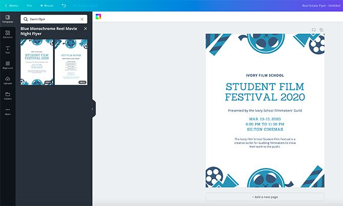 How to Make a Flyer in Canva Choose Event Flyer