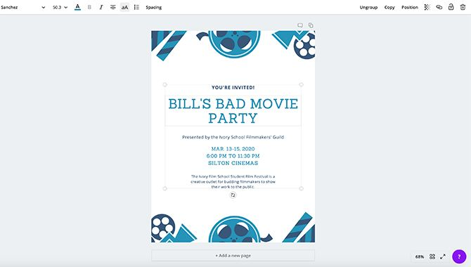 How to Make a Flyer in Canva Change Text