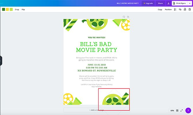How to Make a Flyer in Canva Move Your Element