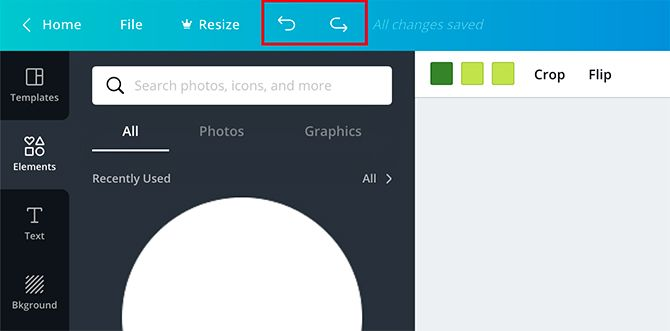 How to Make a Flyer in Canva Undo Button