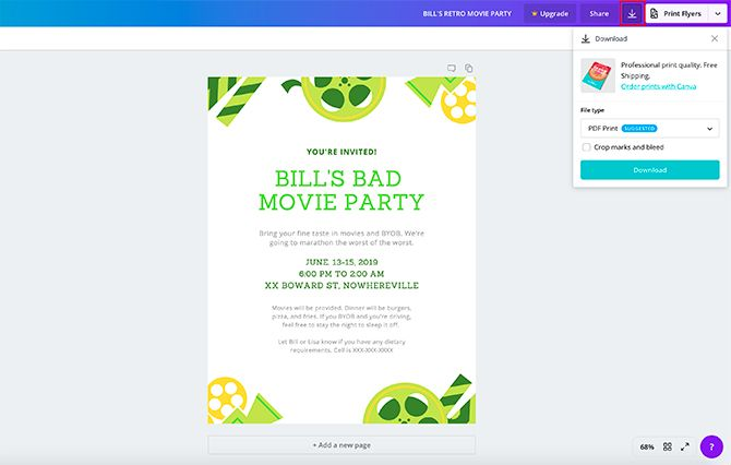 How to Make a Flyer in Canva Export Design for Print