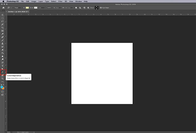 How to Make Online Photo Frame Photoshop Set Up Custom Shape Tool
