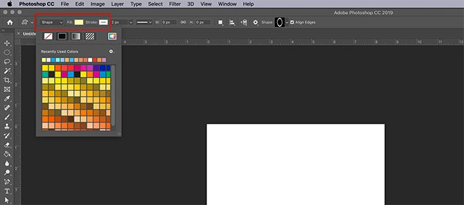 How to Make Digital Photo Frame Photoshop Fill and Stroke