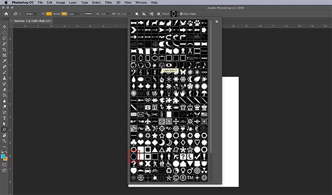 How to Make Virtual Photo Frame Photoshop Choose Shape